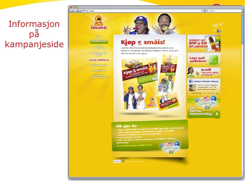 Informasjon på kampanjeside