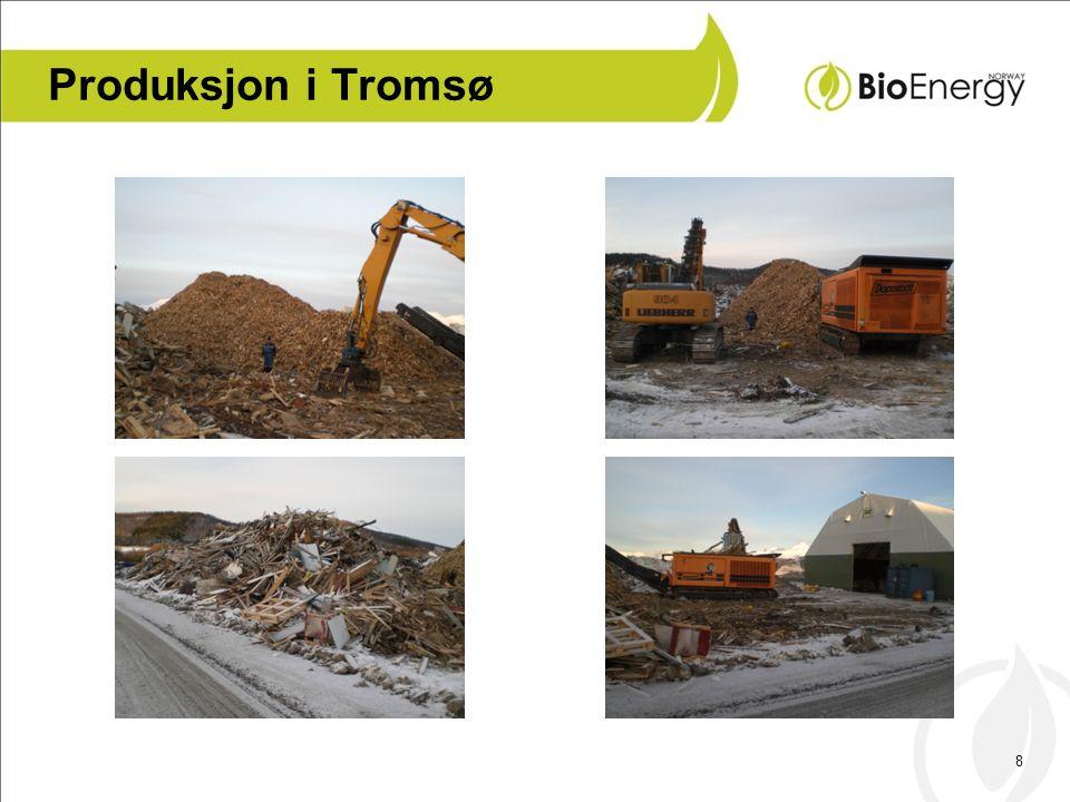 9 Produksjon og distribusjon •BioEnergyNorway skal bli Norges ledende leverandør av biobrensel i form avflis.