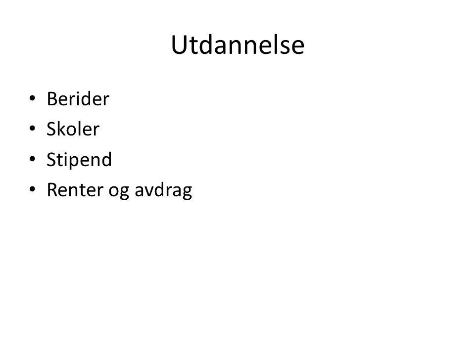 Stipend • Danmark • sverige