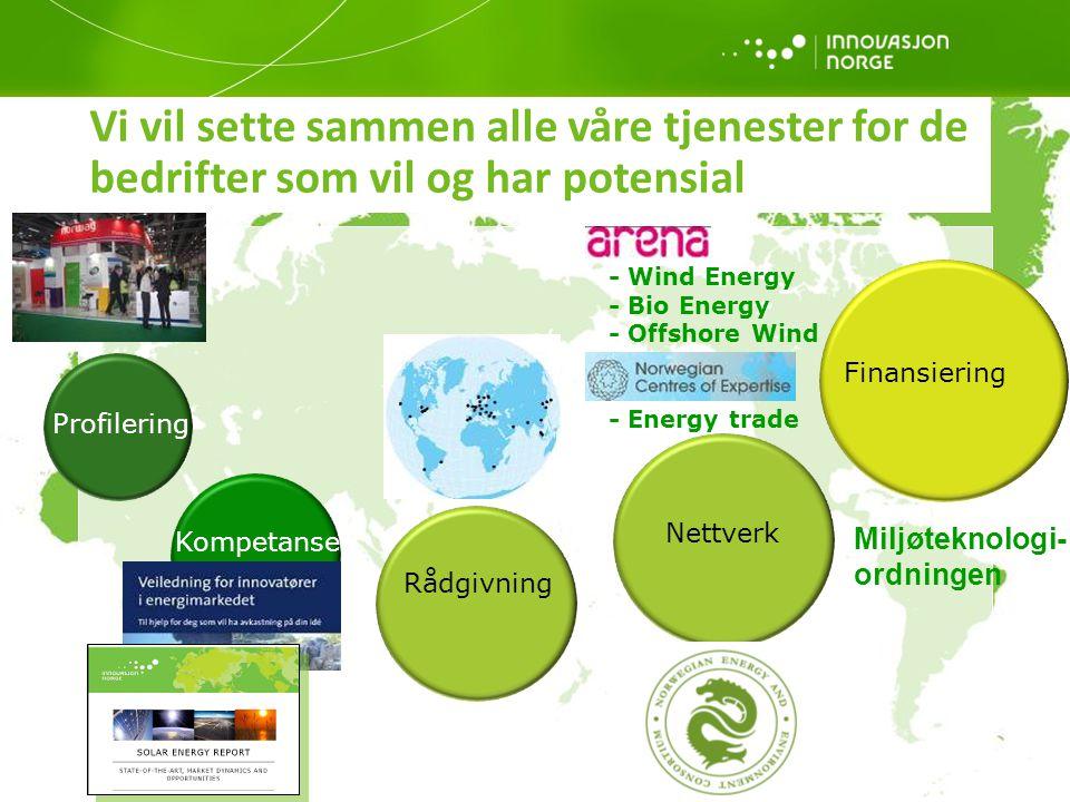 17 Vi vil sette sammen alle våre tjenester for de bedrifter som vil og har potensial Profilering Kompetanse Rådgivning Nettverk Finansiering - Wind En
