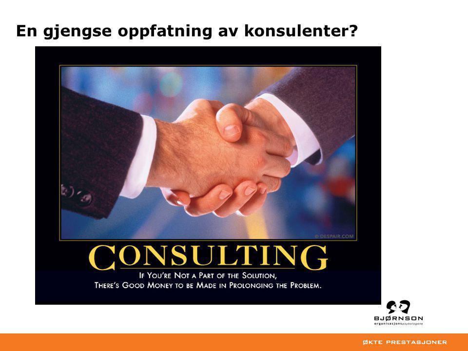 En gjengse oppfatning av konsulenter?