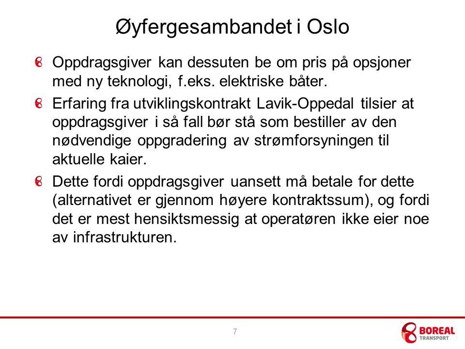 Øyfergesambandet i Oslo Oppdragsgiver kan dessuten be om pris på opsjoner med ny teknologi, f.eks.