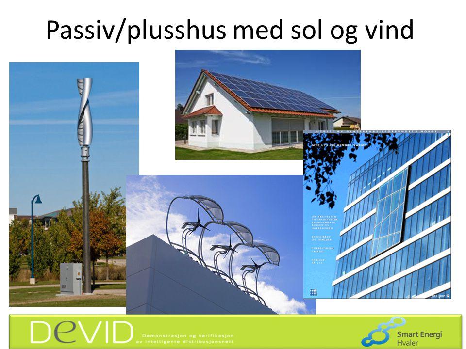 Passiv/plusshus med sol og vind