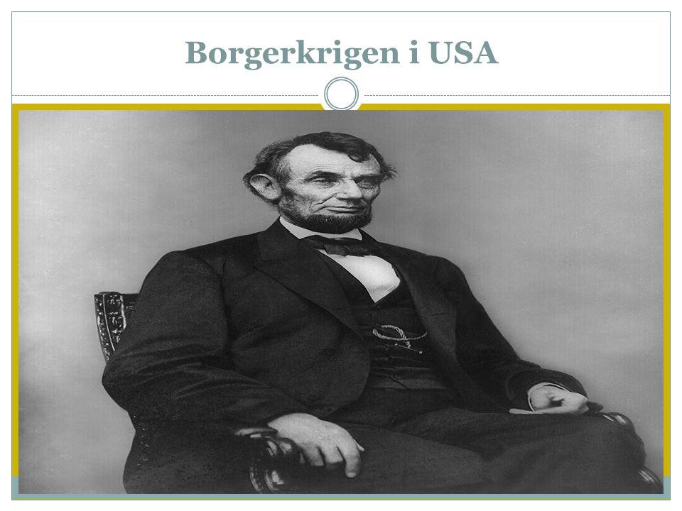 Borgerkrigen i USA  Den amerikanske unionen vokste som sagt raskt  Båndene mellom statene var derimot løse  Sørstatene drev med store slavedrevne p