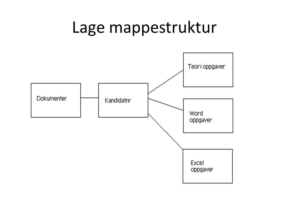 Lage mappestruktur