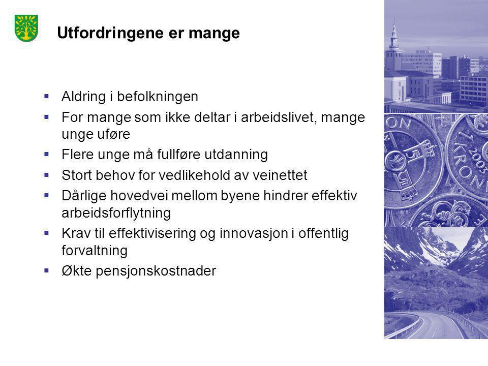 Nasjonale trekk  Sterk vekst i Norge  Sterk urbanisering  Stor avhengighet av petroleumsnæringen  Omstillingsevne viktig for framtidig vekst Regionale trekk  Veksten konsentrerer seg i økende grad om Kristiansandsregionen  Todelt økonomi: sårbarhet men robust region  Handelsnæringer står sterkt  64% av Agders omsetning i Kristiansandsregionen  82% av Agders oljerelaterte omsetning i Krs.