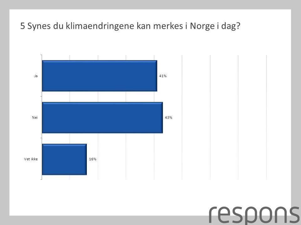 5 Synes du klimaendringene kan merkes i Norge i dag?