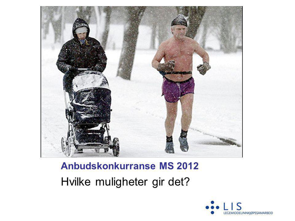 Anbudskonkurranse MS 2012 Hvilke muligheter gir det?