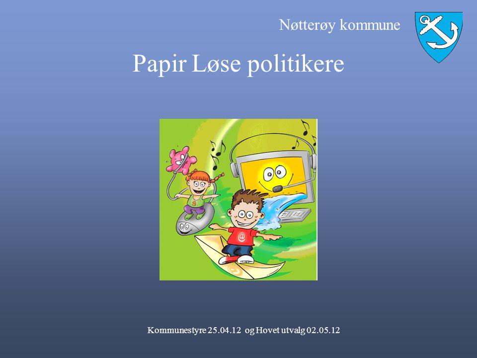 Nøtterøy kommune Papir Løse politikere Kommunestyre 25.04.12 og Hovet utvalg 02.05.12