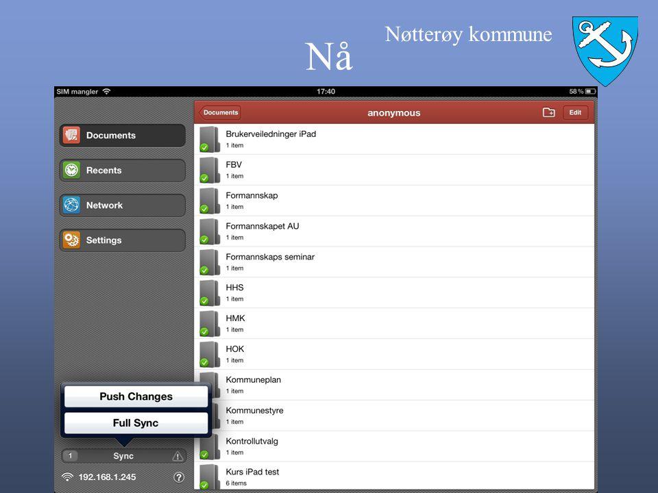 Nøtterøy kommune iPad Størrelse og vekt Høyde: 242,8 mm Bredde: 189,7 mm Dybde: 13,4 mm Vekt: 680 gram Wi-Fi-modell, 730 gram Wi-Fi + 3G- modell Batteritid: Opptil 10 timer med surfing på Internett via Wi-Fi, videoavspilling eller musikkavspilling Opptil 9 timer ved surfing på Internett via 3G-datanettverk
