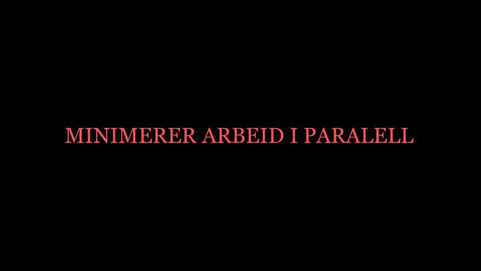 MINIMERER ARBEID I PARALELL