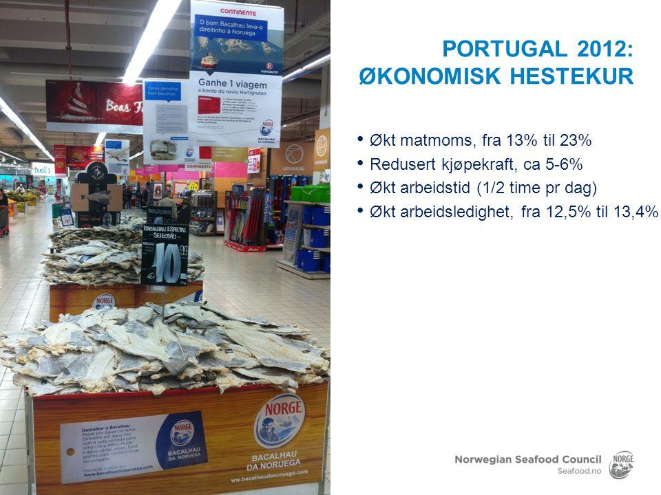 2011 PRISOPPGANG OG REDUSERT VOLUM Kilde: Kantar Worldpanel / Norges sjømatråd