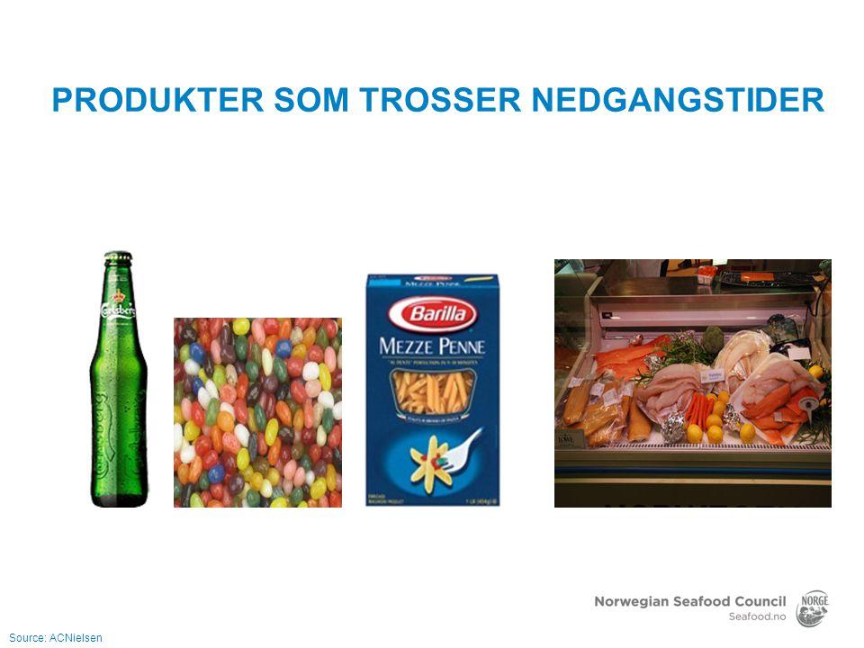 53 mrd kroner -644 mill NOK 2,3 mill tonn -339 tusen tonn NORSK EKSPORT AV SJØMAT I 2011