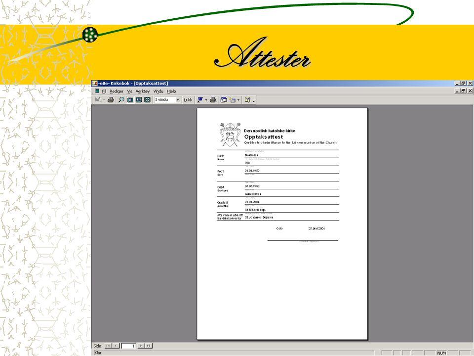 8 Programmet skriver automatisk korrekt attest til det enkelte medlem utfra de registrerte data.