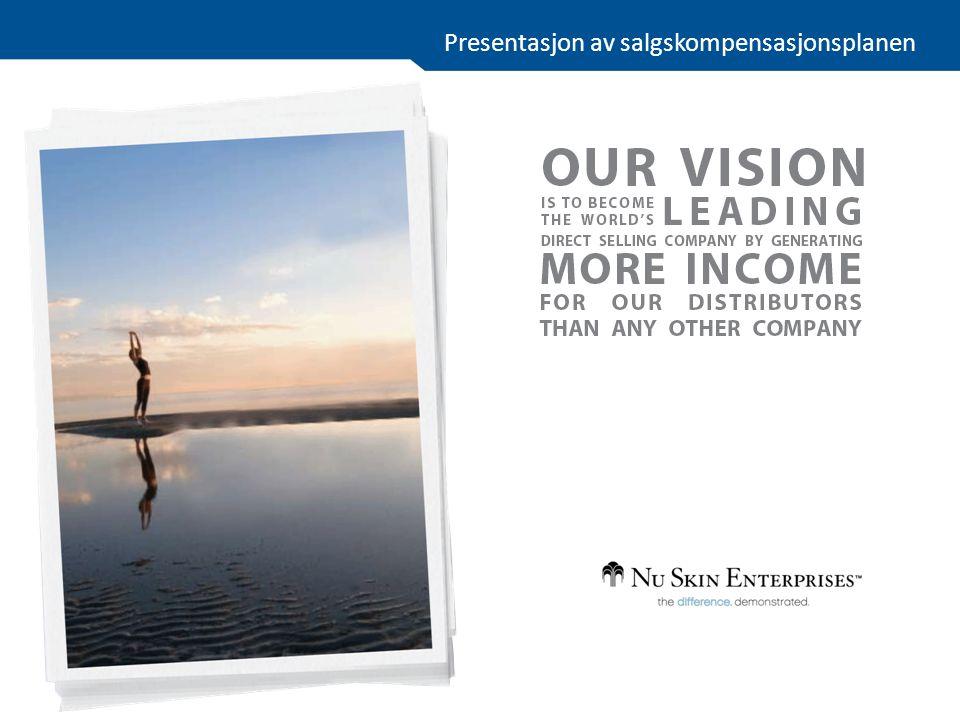 Presentasjon av salgskompensasjonsplanen