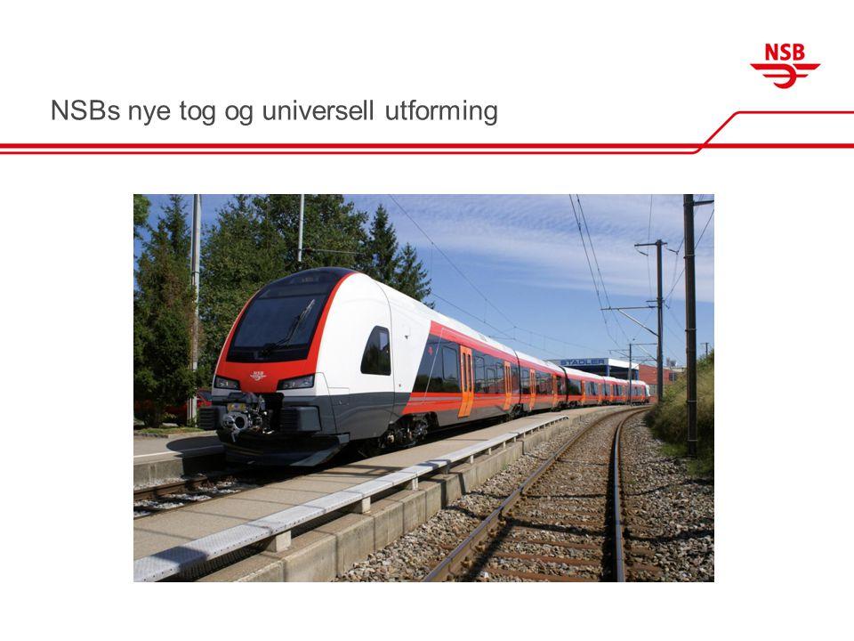 Fakta om NSBs nye tog •NSB har kjøpt 50 nye tog (opsjon på 100 til) •Produsent er Stadler, Sveits •Type FLIRT (Fast, Light, Innovative, Regional Train) •Hos oss kalt type 74 (kort region) og type 75 (Lang lokal) •Kjøpet gir NSB 14 000 nye seter •Toppfart 200 km/t •Første strekning er Skien – Lillehammer