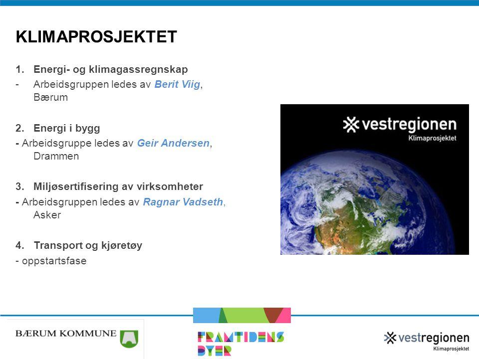1.Energi- og klimagassregnskap -Arbeidsgruppen ledes av Berit Viig, Bærum 2.Energi i bygg - Arbeidsgruppe ledes av Geir Andersen, Drammen 3.Miljøserti
