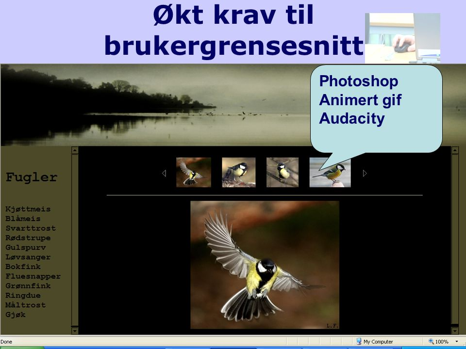 Økt krav til brukergrensesnitt Photoshop Animert gif Audacity