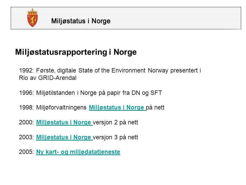 Hvem står bak Miljøstatus i Norge.