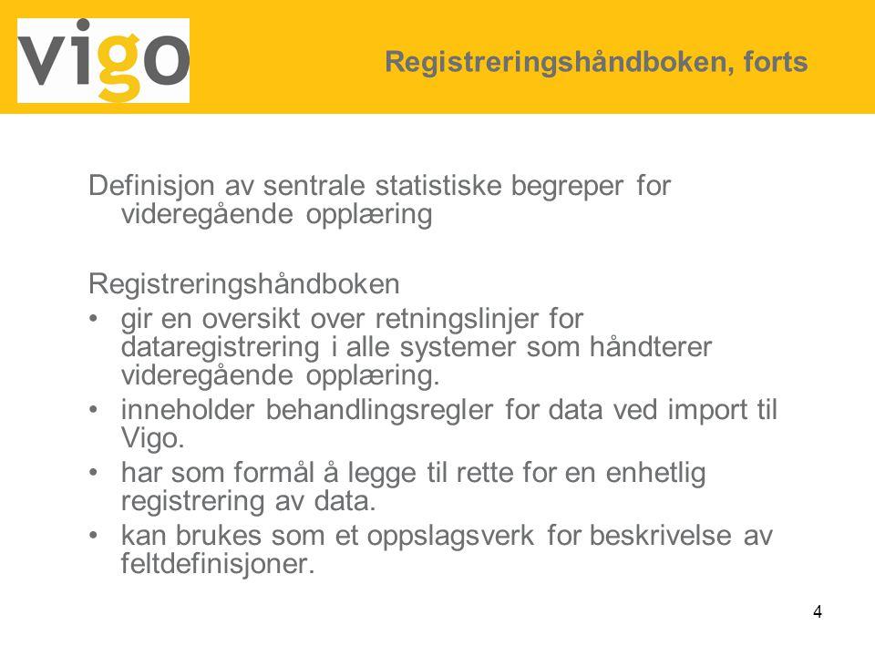 15 Dataflyt VigoVoksen Kandidaten registreres seg på VigoWeb og overføres til Vigo Voksen blir realkompetansevurdert i Vigo Voksen har behov for restopplæring Kandidaten trenger opplæring i ett eller flere fag.