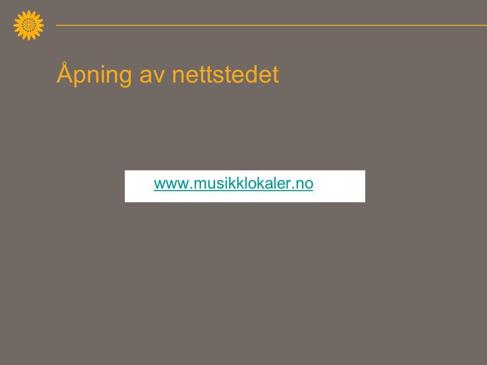 Åpning av nettstedet www.musikklokaler.no