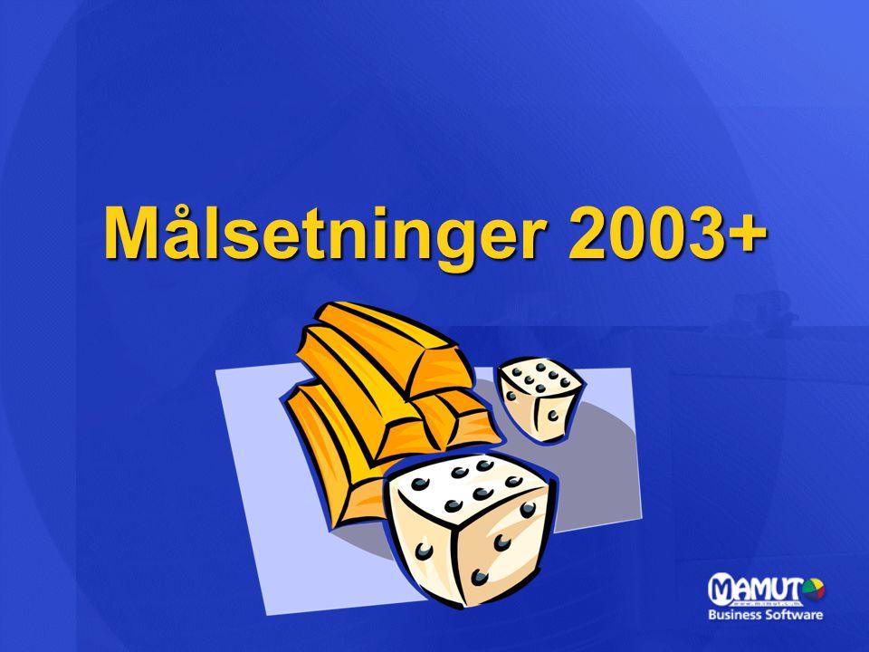 Målsetninger 2003+