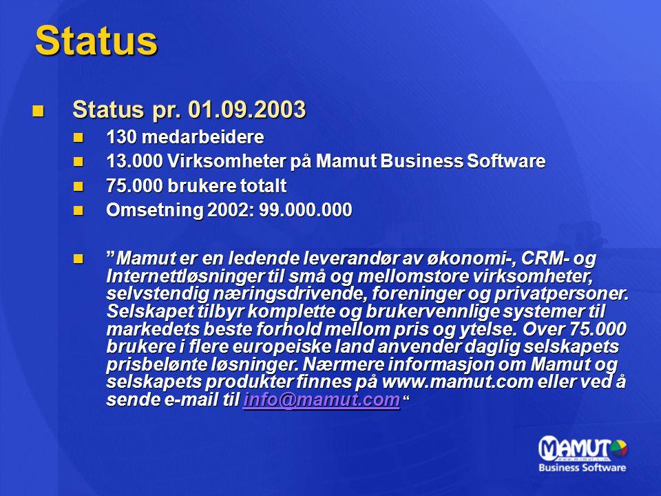 Status  Status pr.