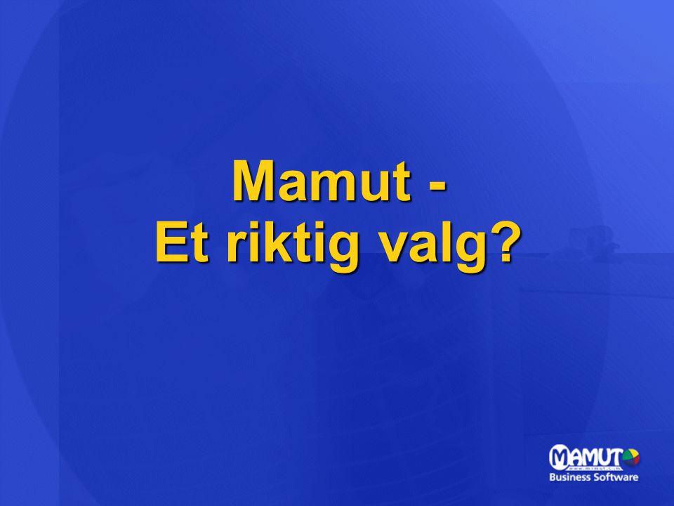 Mamut - Et riktig valg?