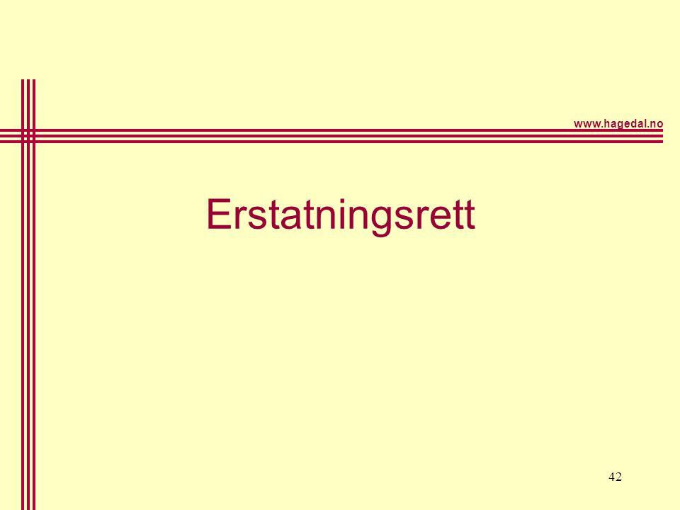 www.hagedal.no 42 Erstatningsrett
