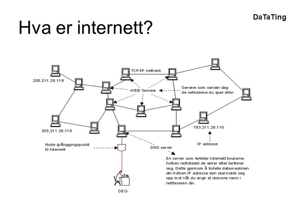 DaTaTing Hva er internett