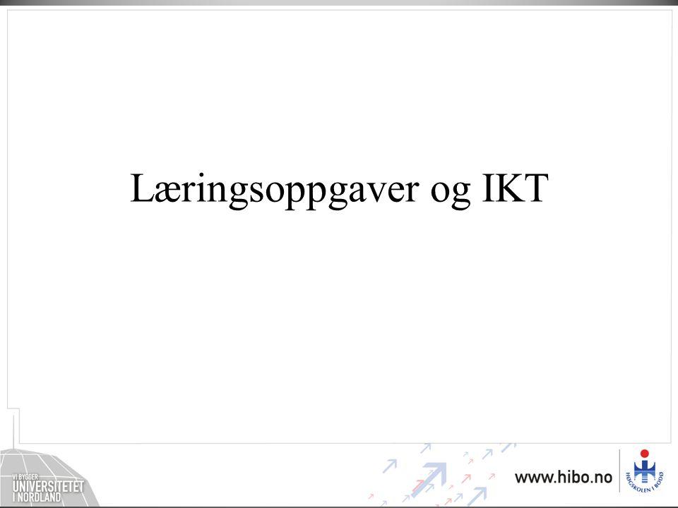Læringsoppgaver og IKT