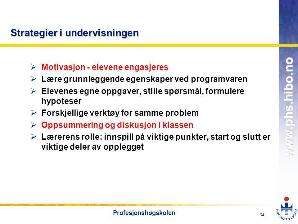 OMJ-98 www.phs.hibo.no 35 Profesjonshøgskolen Digital kompetanse i norsk Digital kompetanse i norsk Utdrag fra læreplan i norsk Utdrag fra læreplan i norsk