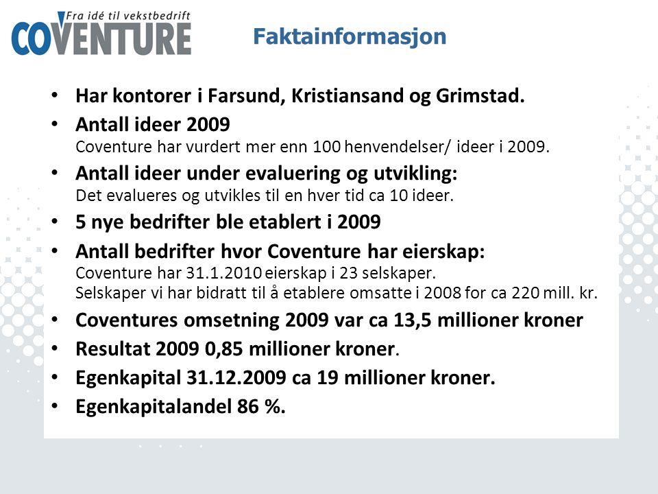 • Har kontorer i Farsund, Kristiansand og Grimstad.