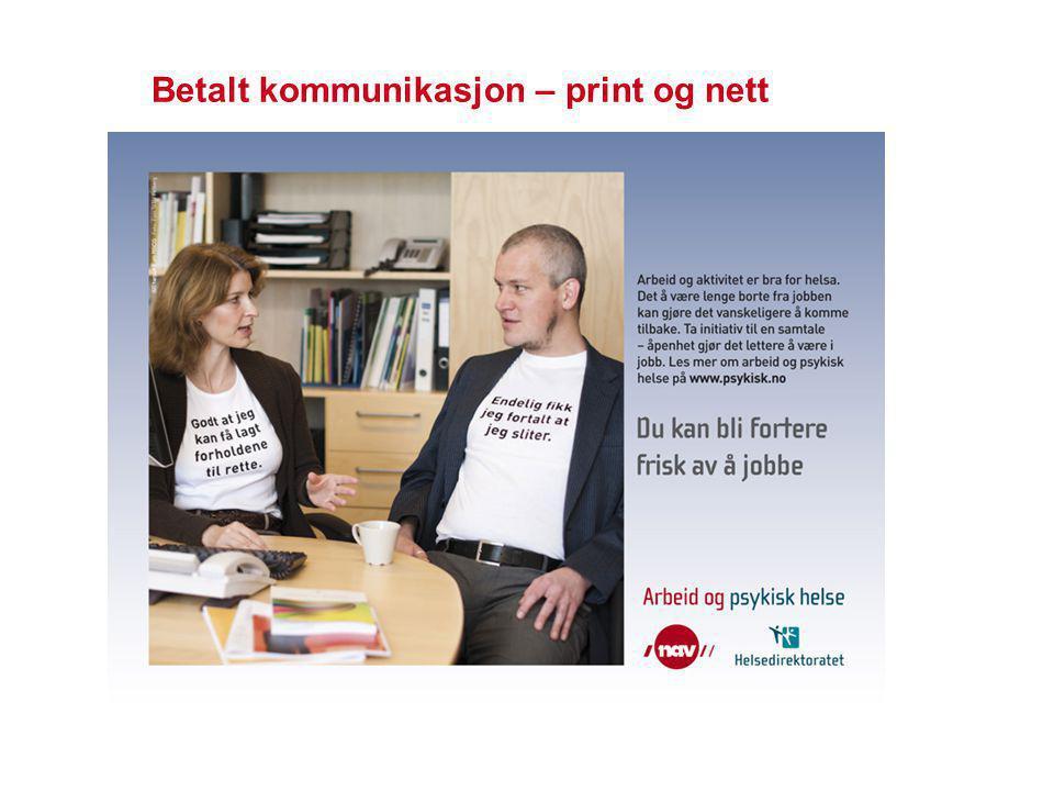 Betalt kommunikasjon – print og nett