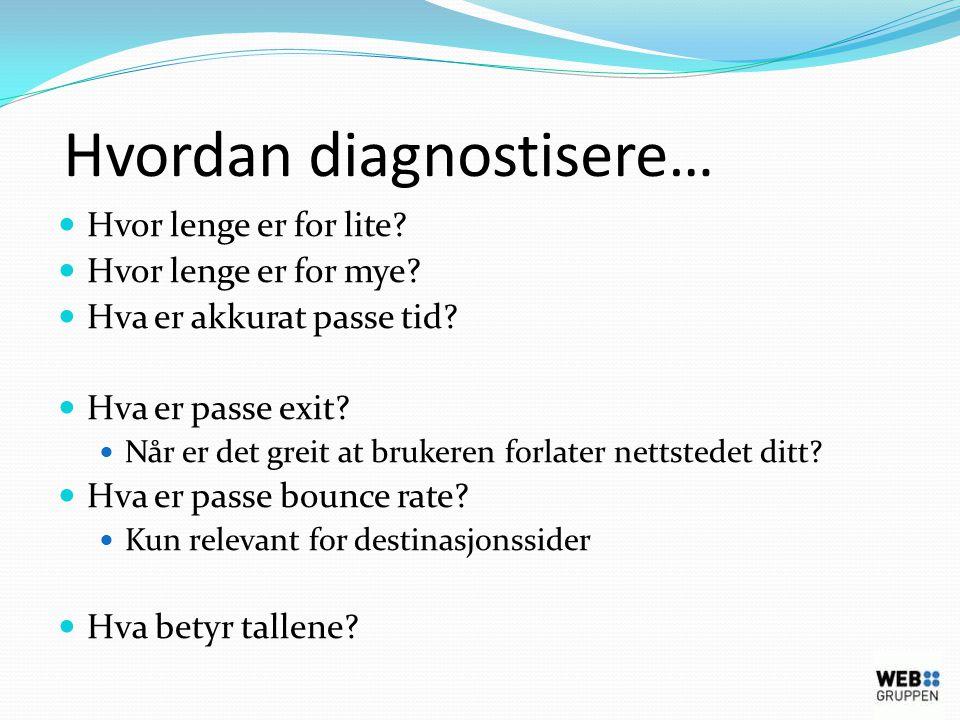 Hvordan diagnostisere…  Hvor lenge er for lite.  Hvor lenge er for mye.