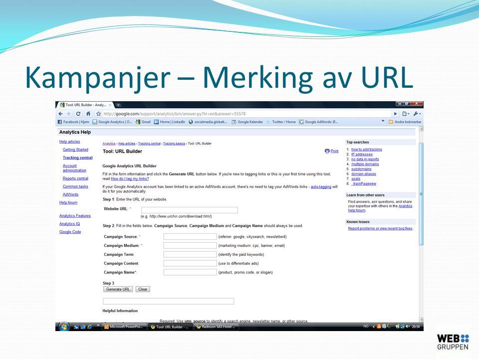 Kampanjer – Merking av URL
