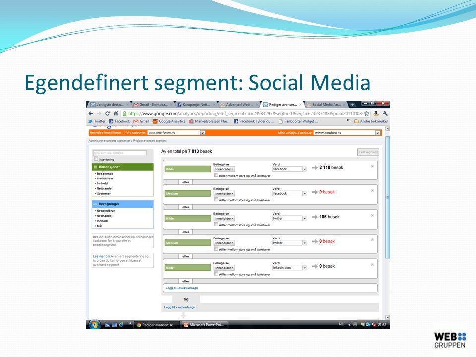 Egendefinert segment: Social Media