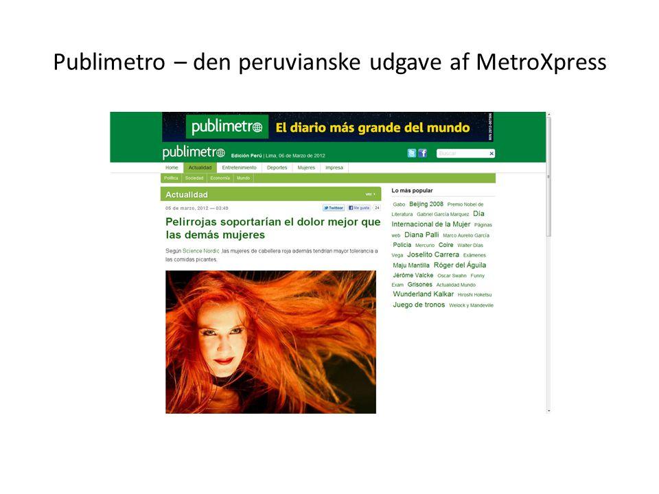 Publimetro – den peruvianske udgave af MetroXpress