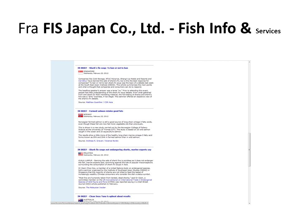 Fra FIS Japan Co., Ltd. - Fish Info & Services