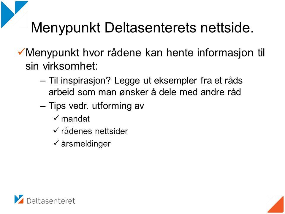 Menypunkt Deltasenterets nettside.