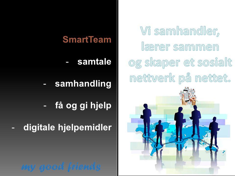 SmartTeam -samtale -samhandling -få og gi hjelp -digitale hjelpemidler