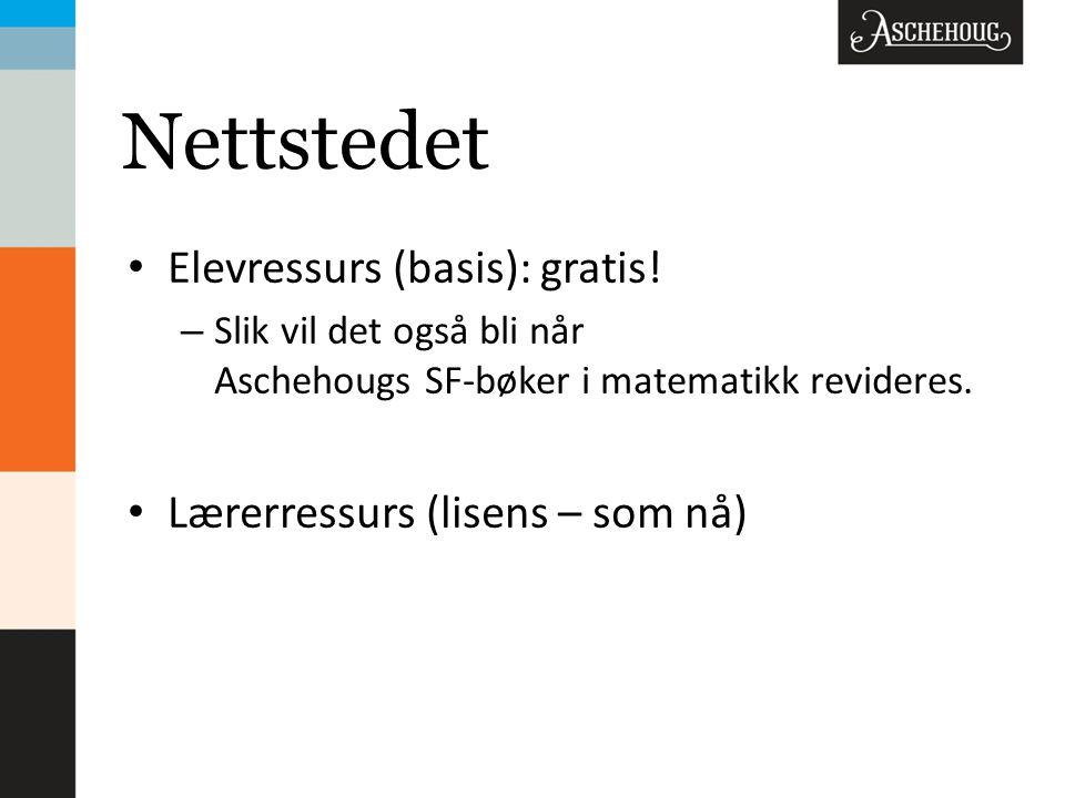 Nettstedet • Elevressurs (basis): gratis.