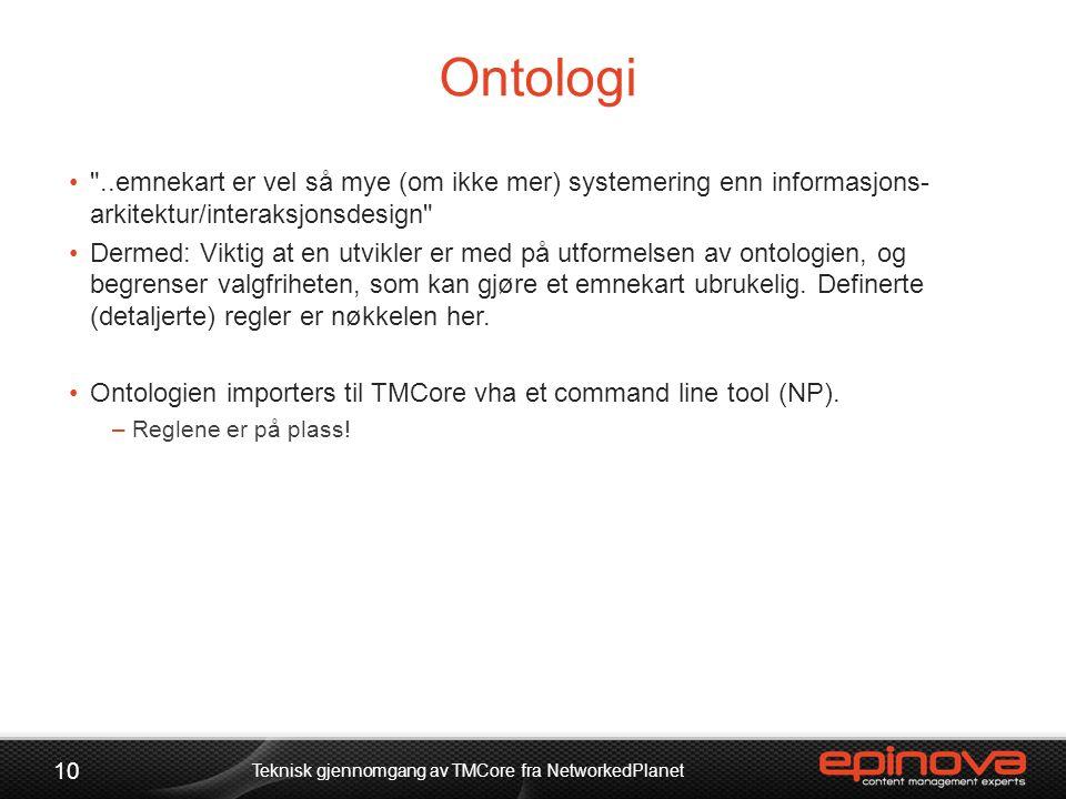 Ontologi •