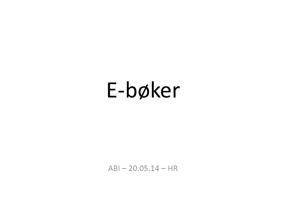 E-bøker ABI – 20.05.14 – HR