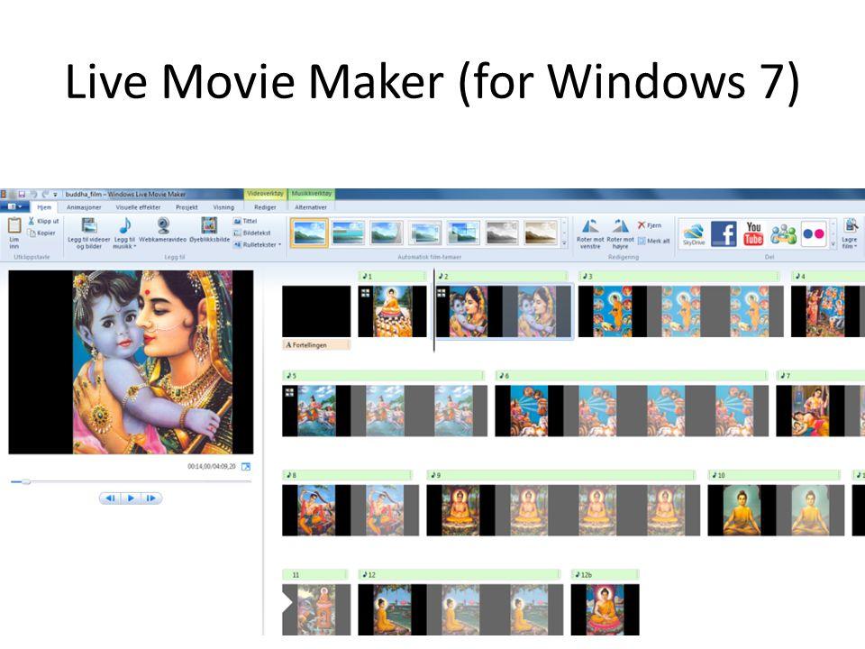 Live Movie Maker (for Windows 7)