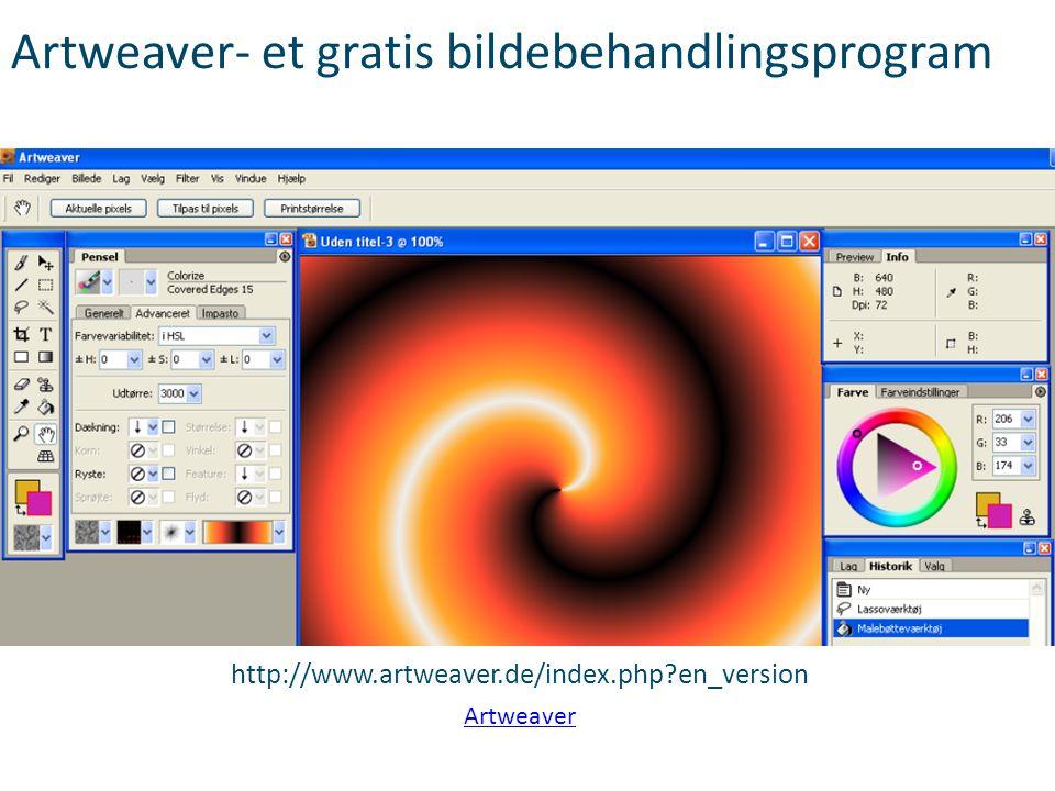 Artweaver- et gratis bildebehandlingsprogram http://www.artweaver.de/index.php?en_version Artweaver
