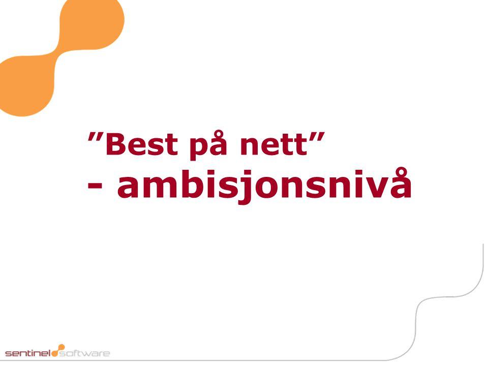 """""""Best på nett"""" - ambisjonsnivå"""