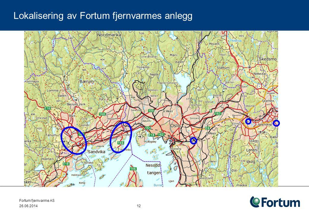 Fortum fjernvarme AS 26.06.2014 12 Lokalisering av Fortum fjernvarmes anlegg