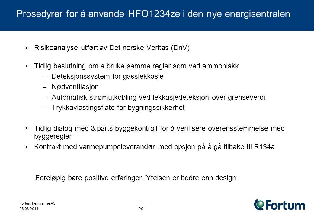 •Risikoanalyse utført av Det norske Veritas (DnV) •Tidlig beslutning om å bruke samme regler som ved ammoniakk –Deteksjonssystem for gasslekkasje –Nød