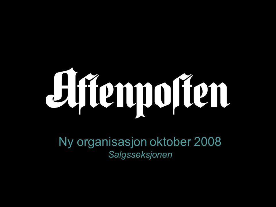Ny organisasjon oktober 2008 Salgsseksjonen